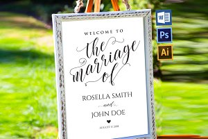 wedding welcome sign WPC204