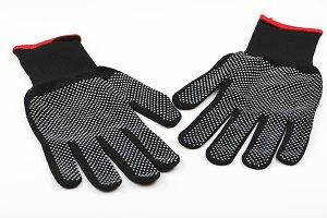 Safety gloves to work on white background. Isolated.