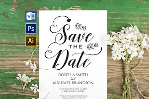 Save the Date Template Wpc206