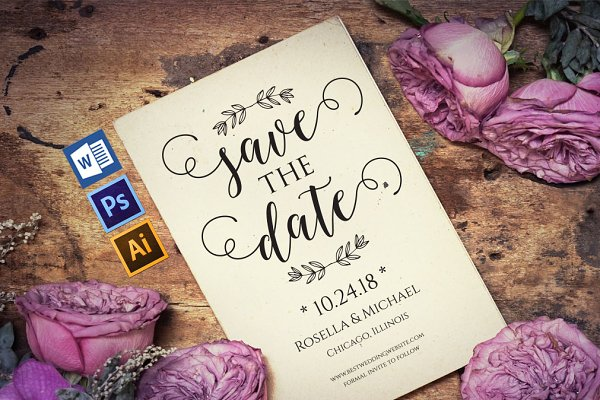 Save the Date Template Wpc207