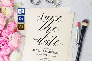 Save the Date Template Wpc208