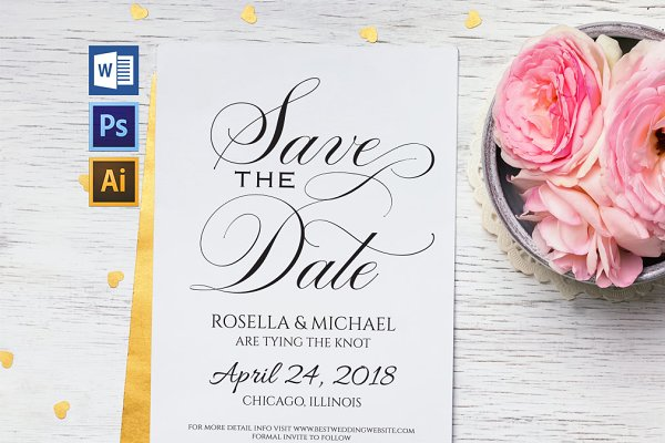 Save the Date Template Wpc209