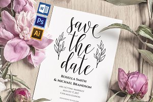 Save the Date Template Wpc210