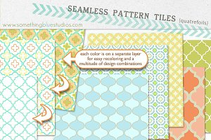 Seamless Pattern Tiles - Quatrefoils