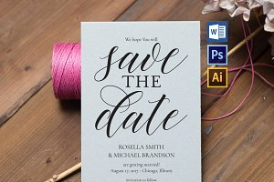 Save the Date Template Wpc211