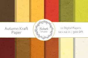 Autumn Kraft Paper digital paper