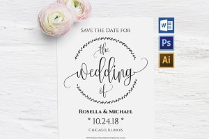 Save the Date Template Wpc212