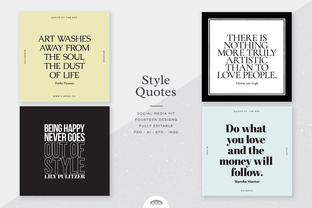 Style Quotes Social Media Kit Instagram Templates