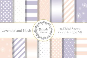 Lavender and Blush digital paper