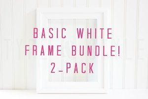 Basic White Frame Stock Photo Bundle