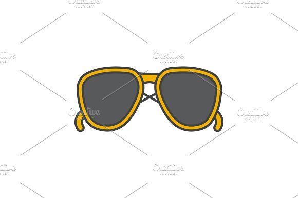 Sunglasses color icon