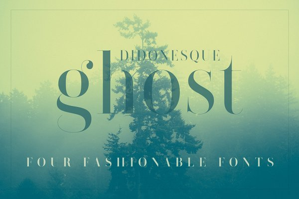 Didonesque Ghost 4 Fashionable Font…