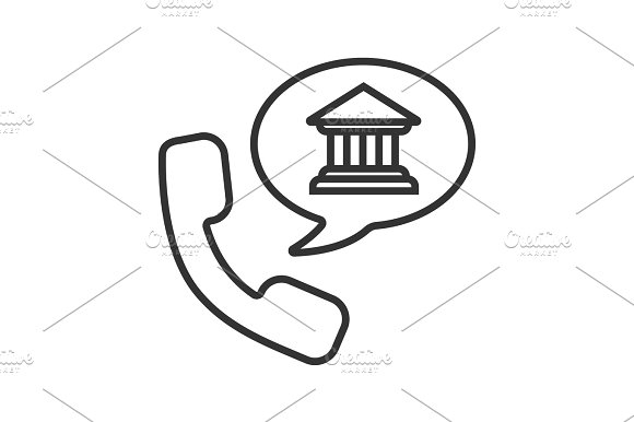 Bank Phone Call Linear Icon