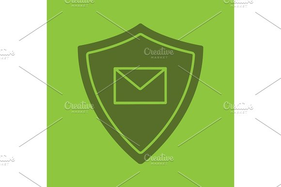 Email Security Glyph Color Icon