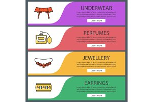 Women's accessories web banner templates set