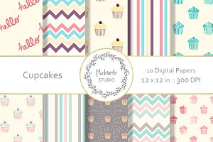 Cupcake and Candy digital paper