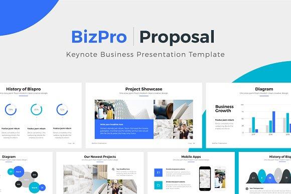 Bizpro Proposal Keynote Template Presentation Templates