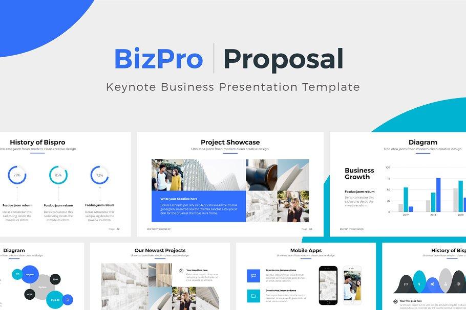 Bizpro proposal keynote template presentation templates previous cheaphphosting Images