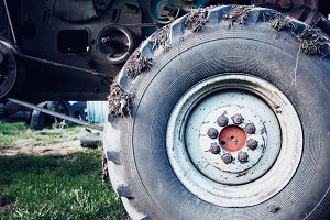 Tyre of big farming machine