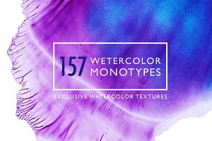 Big watercolor monotypes pack.