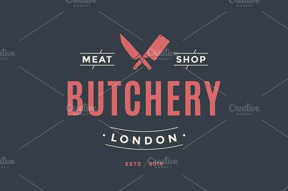 Label Of Butchery Meat Shop