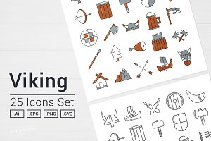 Viking Vector Icon Set