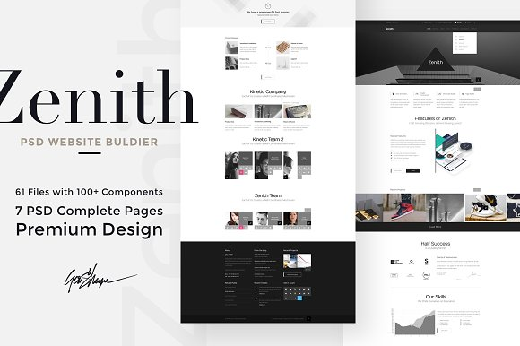 Zenith Website PSD Builder