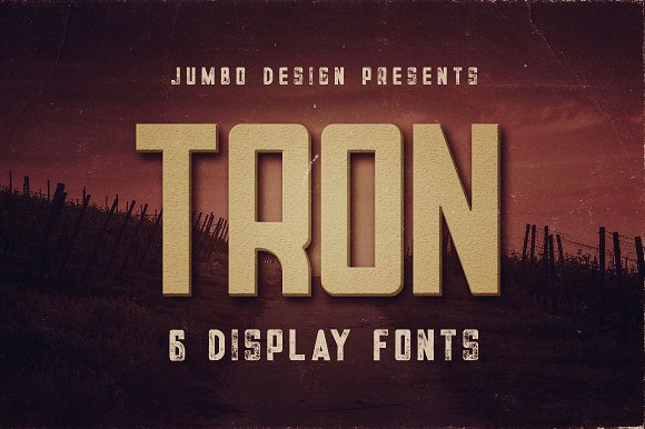 Tron Display Font