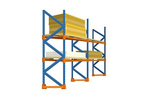 Pallet with Boxes in Warehouse Interior. Delivery
