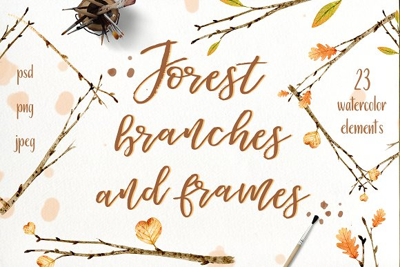 Forest Branches And Frames