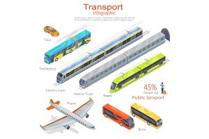 Transport Infographic. Public Transport. Vector