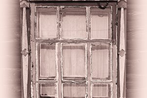 Russian vintage window platband backdrop