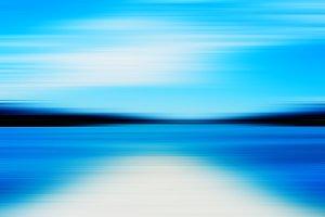 Horizontal vivid simple ocean horizon landscape motion abstract