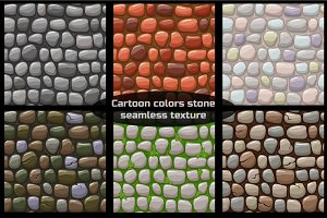 cartoon stone texture, vector seamless background