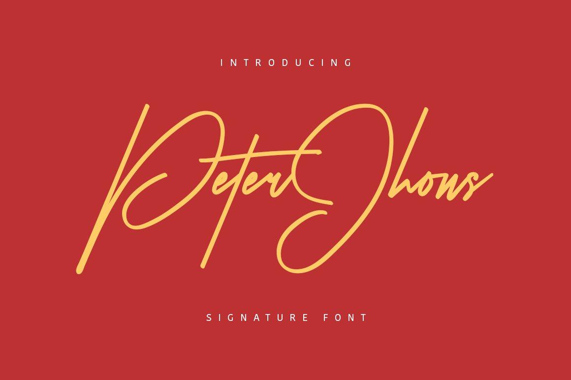 Peter Jhons - Signature Font ~ Script Fonts ~ Creative Market