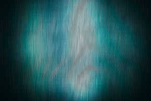 Square vivid green abstract interlaced tv lines background