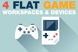 Game Devices in Flat Style