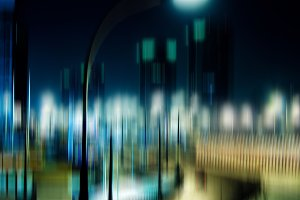 Night city lamp abstraction
