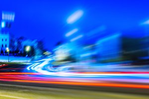 Night Moscow long exposure abstraction