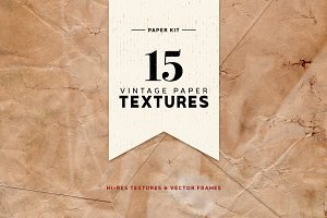 Vintage Paper Textures Kit