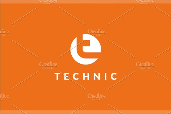 technic t logo logo templates creative market