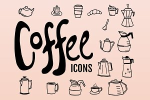 Doodled Coffee Icons