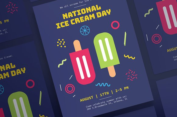 Posters Ice Cream Day