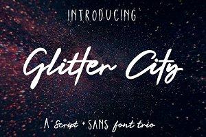 Glitter City Font Trio + Logos