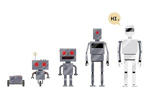 Evolution of robots, stages of android development