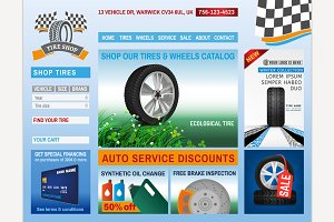 Tire Shop Website Design