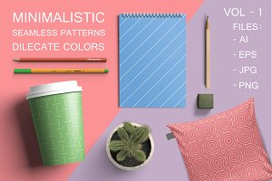 Minimalistic seamless patterns Vol-1