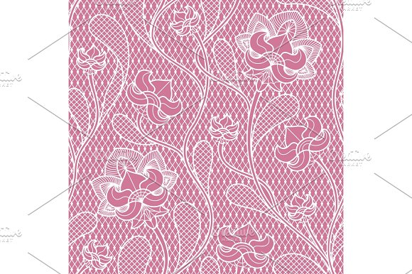Floral Lace Seamless Texture Retro Victorian Pattern