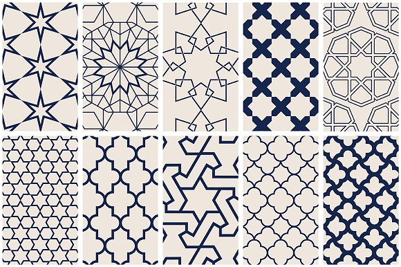 Islamic Art Vector Patterns Graphic Patterns Creative Market Extraordinary Patterns