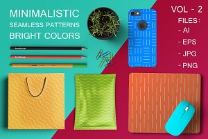 Bright colorful geometric patterns.